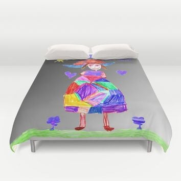 Mrs Evi Duvet Cover by Azima