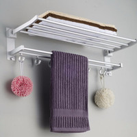 Multi-function Foldable Alumimum Towel Bar  Rack Tower Holder Hanger Bathroom Hotel Shelf  Bathroom Accessories towel holder