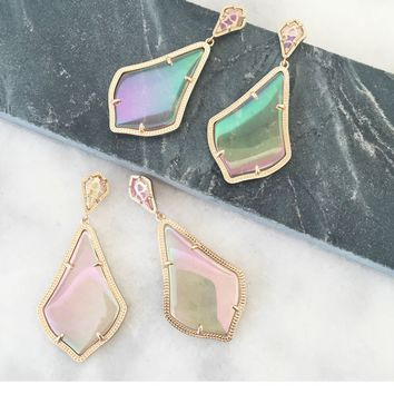 Alexis Earrings in Iridescent Peach - Kendra Scott Jewelry