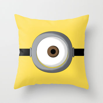 Minion Throw Pillow by Bearded Manatee