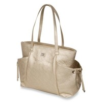 The Bumble Collection™ Embossed Tote Diaper Bag in Gold