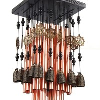 28 Metal Tube Wind Chime with Copper Bell