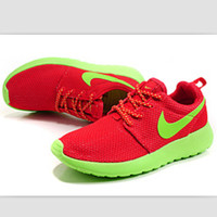 """""""NIKE"""" roshe Trending Fashion Casual Sports A Simple yet Powerful Style Nike Shoes Red(green hook soles)"""