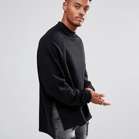 ASOS Super Longline Oversized Sweatshirt with Side Splits and Dropped Hem at asos.com