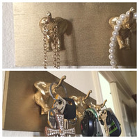 Gold elephant Key / Jewelry holder home Decor Bohemian