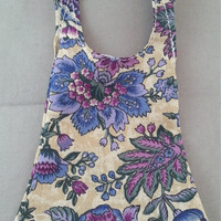 Purple floral cotton dress for Tree Change and Bratz dolls with shoulder ties