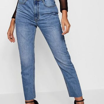 High Waist Mom Jeans | Boohoo