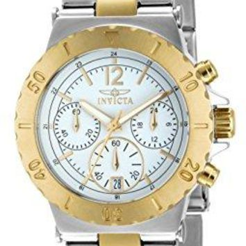 Invicta Specialty Chronograph 18k Gold Ion Plating and Stainless Steel Two-Tone Watch