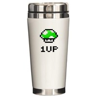 1 UP Mushroom Travel Tea Coffee Mug