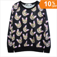 Cat Crewneck Sweatshirt
