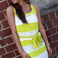 Neon Lime Crochet Dress | The Rage