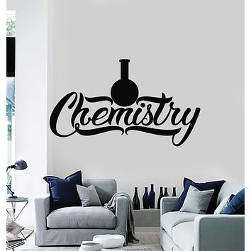 Vinyl Wall Decal Chemistry Glassware Words Lab Classroom School Art Stickers Mural (g1213)