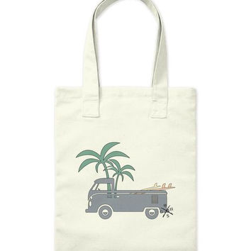 Friday Afternoon Vintage Surf Bus Tote