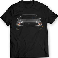 Lexus LS400 1998 T-Shirt Headlights Glow Mens Gift Idea Black Tee 100% Cotton