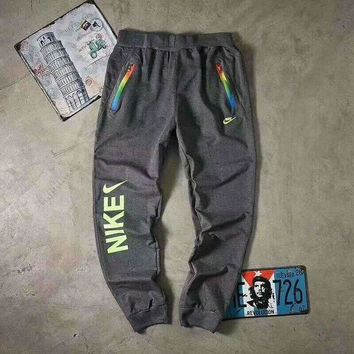 DCCKB62 NIKE Women Fashion Rainbow Color Print Sport Stretch Pants Trousers Sweatpants G-A-GHSY-1