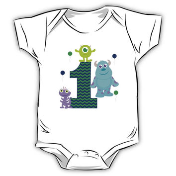 Baby Monsters Inc. 1st Birthday Boy Kids Clothes