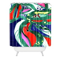 CayenaBlanca Organic color Shower Curtain