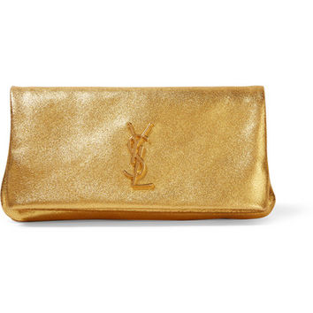 saint laurent monogram leather clutch