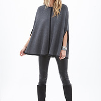 LOVE 21 Ribbed Knit Cape