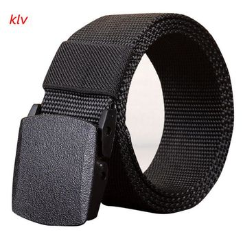 KLV High Recommend Men's Outdoor Sports Nylon Waistband Canvas Web Belt Dazzling designer belt men erkek kemer cinto