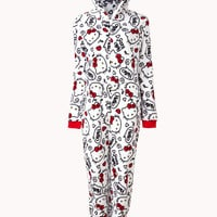 Hello Kitty Hooded PJ Onesuit