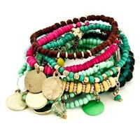 Bohemian Gypsy Bracelet Set - Multi