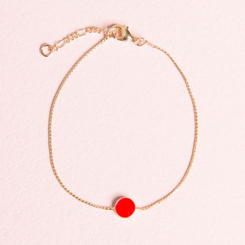 Red and Gold Charm Bracelet - Jewelry - Accessories