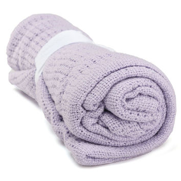 Newborn Baby Blankets Super Soft Cotton Crochet Summer 100cmX80cm Candy Color Prop Crib Casual Sleeping Bed Supplies Hole Wrap