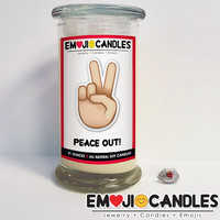Peace Out! - Emoji Candles