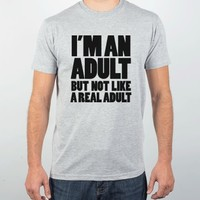 I'm an Adult-Unisex Heather Grey T-Shirt