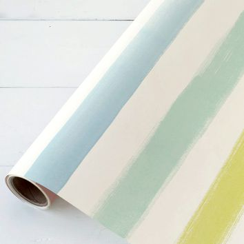 "Sorbet Painted Striped Paper Table Runner - 25' Long x 20"" Wide"