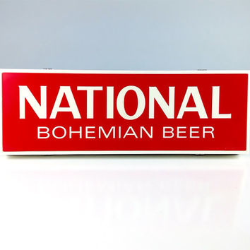 Vintage Sign, Light Up National Bohemian Beer Sign, Man Cave, Bar Sign, Natty Boh, Baltimore, MD, Kitchen Sign, Vintage Advertising Signs