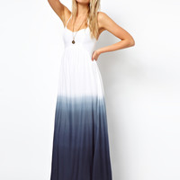 ASOS Petite | ASOS PETITE EXCLUSIVE Halter Maxi Dress With Dip Dye at ASOS