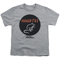 PARKS & REC/MOUSE RAT CIRCLE-S/S YOUTH 18/1-ATHLETIC HEATHER