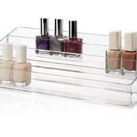 Acrylic Multi-Level Nail Polish Organizer Cosmetic Beauty Storage Clear Unit