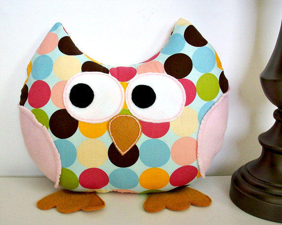 Stuffed Owl Plush Pillow Owl Toy Accent from LoungeAboutPillows