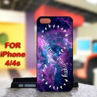 Infinity Hakuna Matata Galaxy For IPhone 4 or 4S Black Case Cover