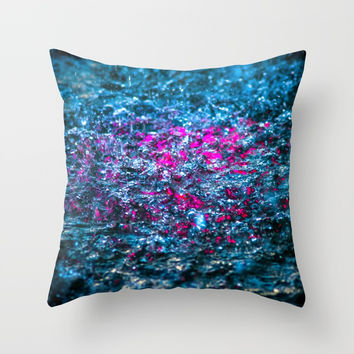 Water Color - Violet - Purple Throw Pillow by digital2real