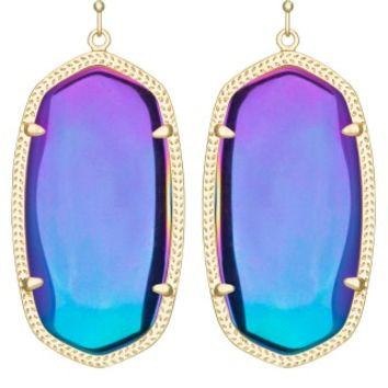 Danielle Earrings in Black Iridescent - Kendra Scott Jewelry