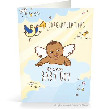 Congrats it's a New Baby Boy Card