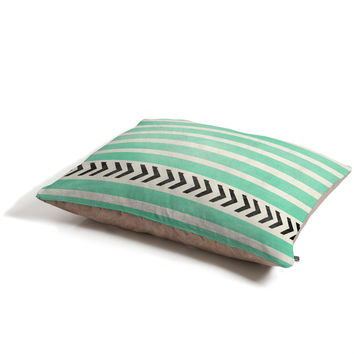 Allyson Johnson Mint Stripes And Arrows Pet Bed