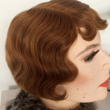 Vintage Max Factor Wig from the Original rental Studios in Hollywood. 1930's/40's Museum Quality Gem