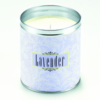 Lavender Scroll Candle