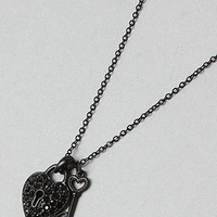 Karmaloop.com - Global Concrete Culture - The Lock and Key Necklace in Gunmetal by *The Extras