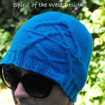 Cabled Anarchy - Sons of Anarchy inspired, Knitting Pattern, teen Adult sizes, winter hat, toque unisex easy quick, Anarchy, mens hat, cable