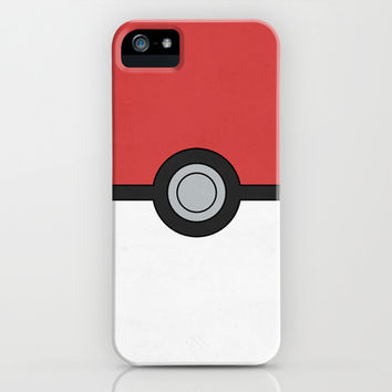 Minimal Pokéball Poster - Pokemon Classic iPhone & iPod Case by Jorden Tually Art