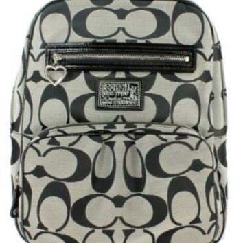 Coach Daisy Signature School Travel Laptop Baby Diaper Backpack Bag 22948