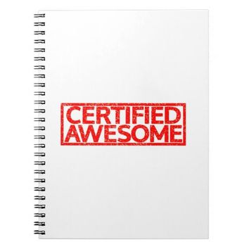Certified Awesome Stamp Spiral Note Books