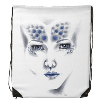Miss Universe Alien Lady Original Art Backpack