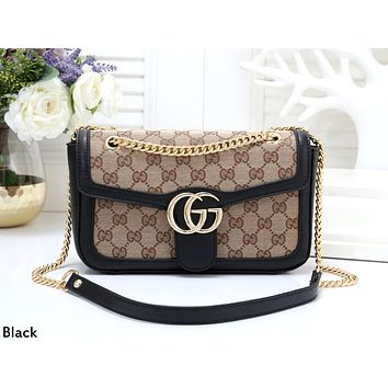 GUCCI 2019 new women's wild chain bag handbag shoulder bag black